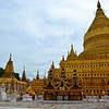 First stop on the Bagan temple tour...Shwe-zi-gon Pagoda!