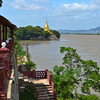 Stopping for lunch with a view of the Ayeyarwaddy River