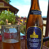 Sipping a Mandalay local beer