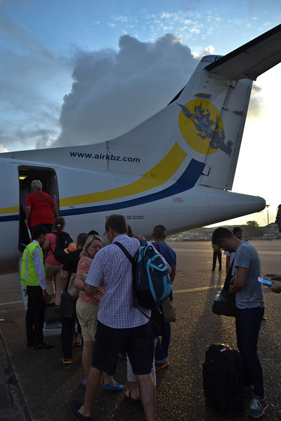 Boarding our sunrise flight in Yangon
