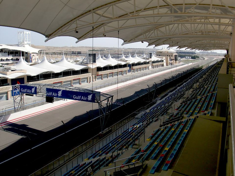 The Formula 1 racetrack in Bahrain.