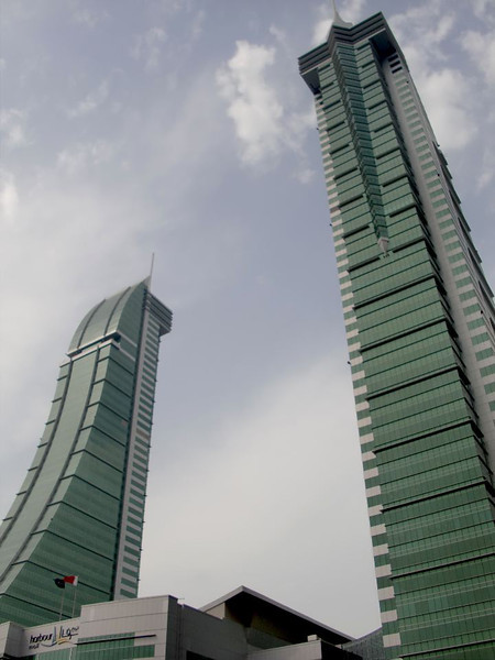 Skyscrapers in Manama, Bahrain.
