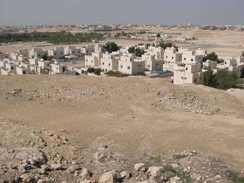 The view from the Riffa (Sh.Salman bin Ahmed Fort) Al Fateh Fort In Bahrain.