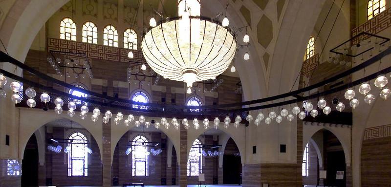 Inside Al Fateh Mosque in Bahrain.
