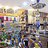 Hookahs for sale in the Bab Al-Bahrain souk.