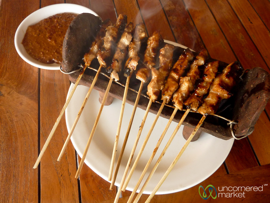 Fish Satay and Peanut Sauce - Sanur, Bali