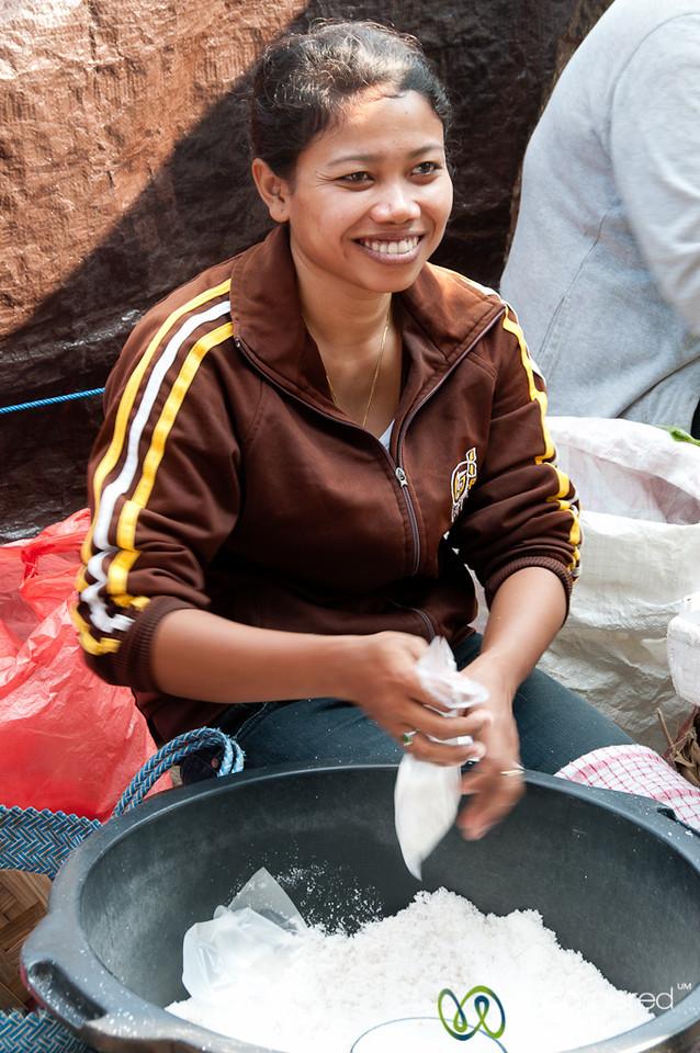 Salt Vendor at Ubud Market - Bali, Indonesia