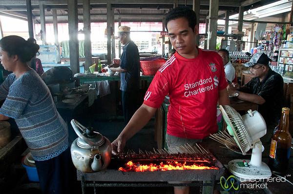 Beef Satay in the Market - Semarapura, Bali