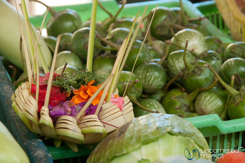 Offering at the Vegetables - Bali, Indonesia