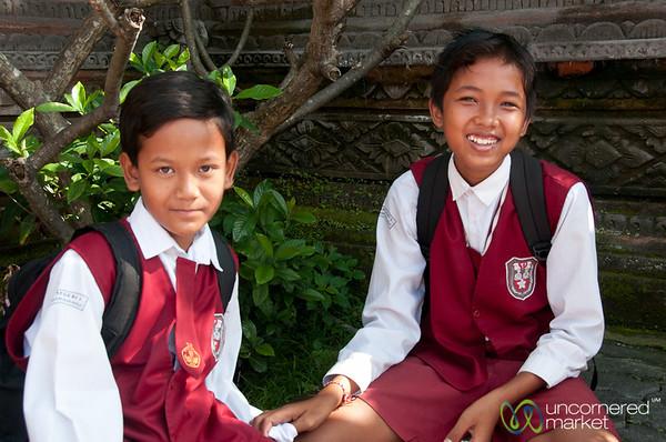 School Boys - Semarapura, Bali