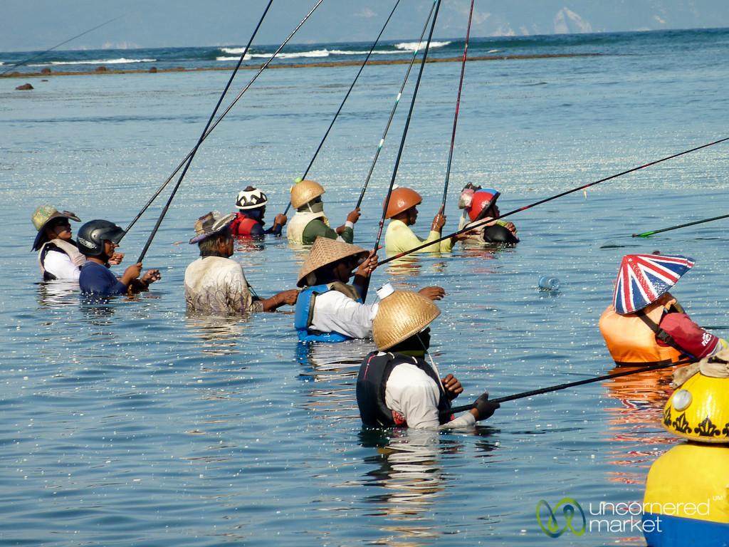 Fishing in the Water - Sanur, Bali