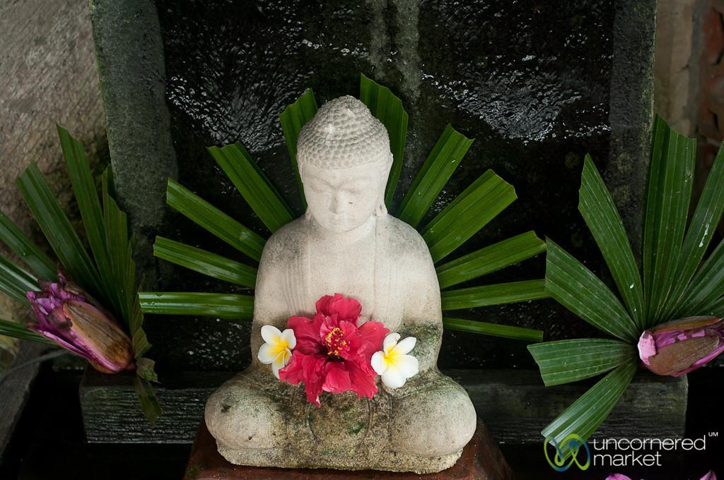 Buddha Adorned with Flowers - Ubud, Bali