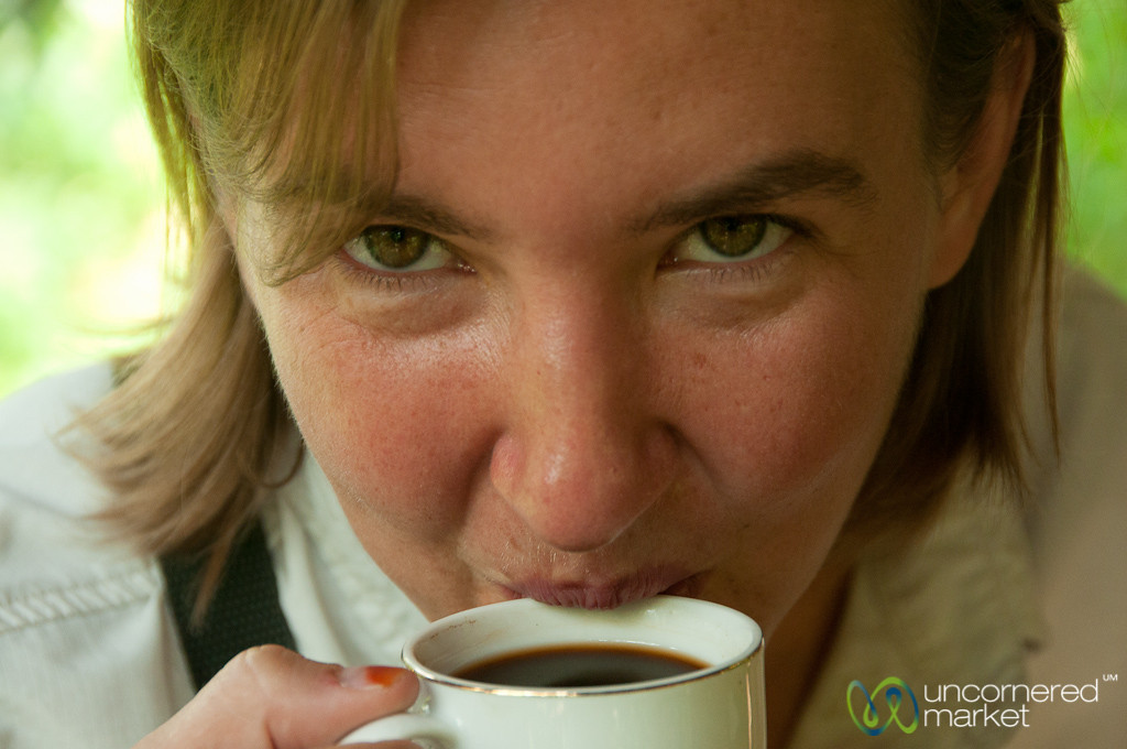 Audrey Drinks a Cup of Luwak Coffee - Bali, Indonesia
