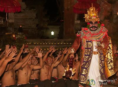 Giant Marches in Kecak Show - Ubud, Bali