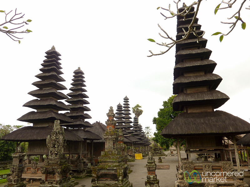 Pagodas and Temples at Taman Ayun - Bali, Indonesia
