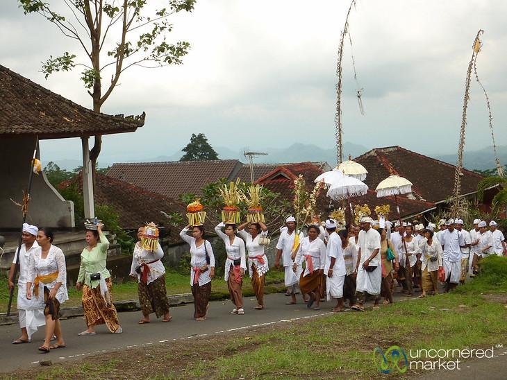 Funeral Procession at Besakih Temple - Bali