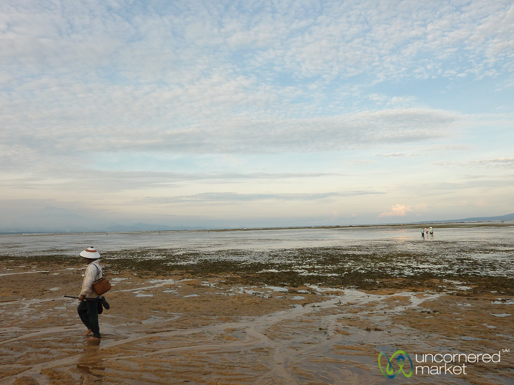 Walking Along Sanur Beach - Bali, Indonesia