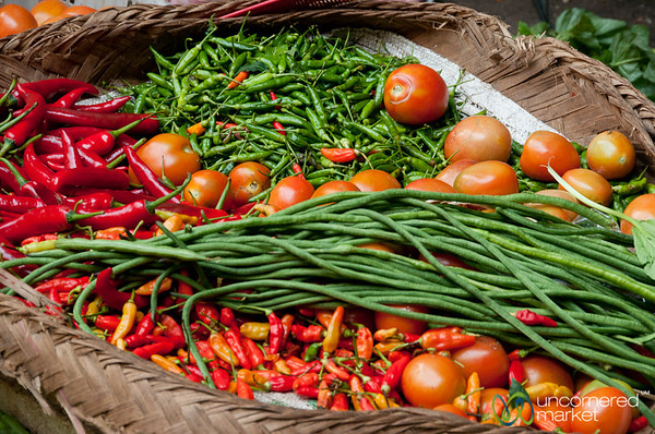 Tray of Chilies and Vegetables - Ubud, Bali