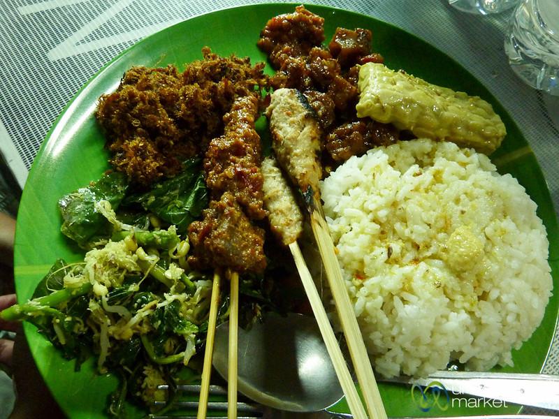 Plate of Nasi Campur - Sanur, Bali
