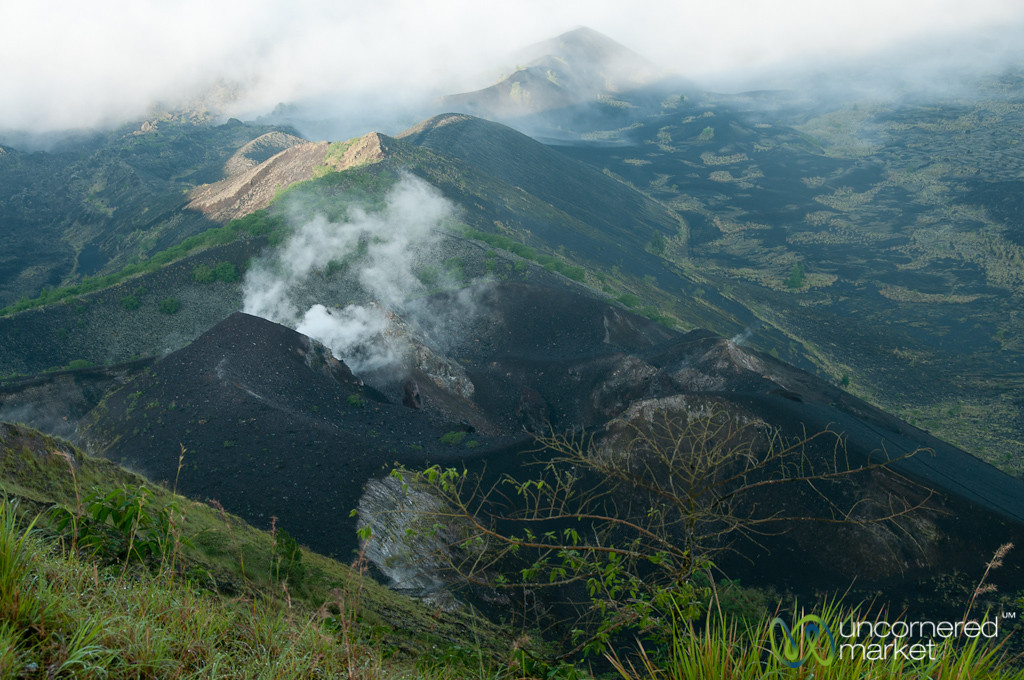 Steam Rising from Mt. Batur Volcano - Bali, Indonesia
