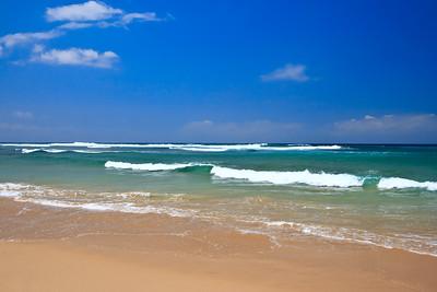 Beautiful beach in summer