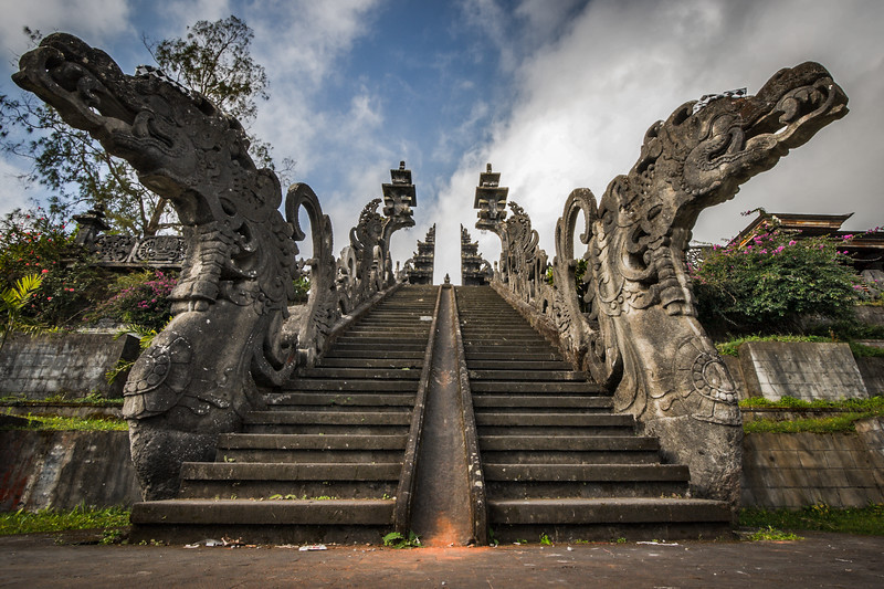 Stairs to Hindu temple