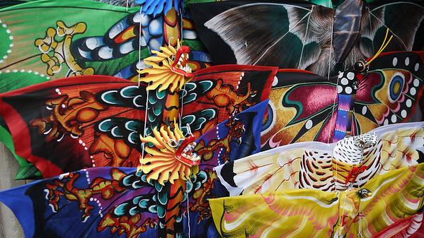 Colorful kites, Ubud main market, Bali Indonesia