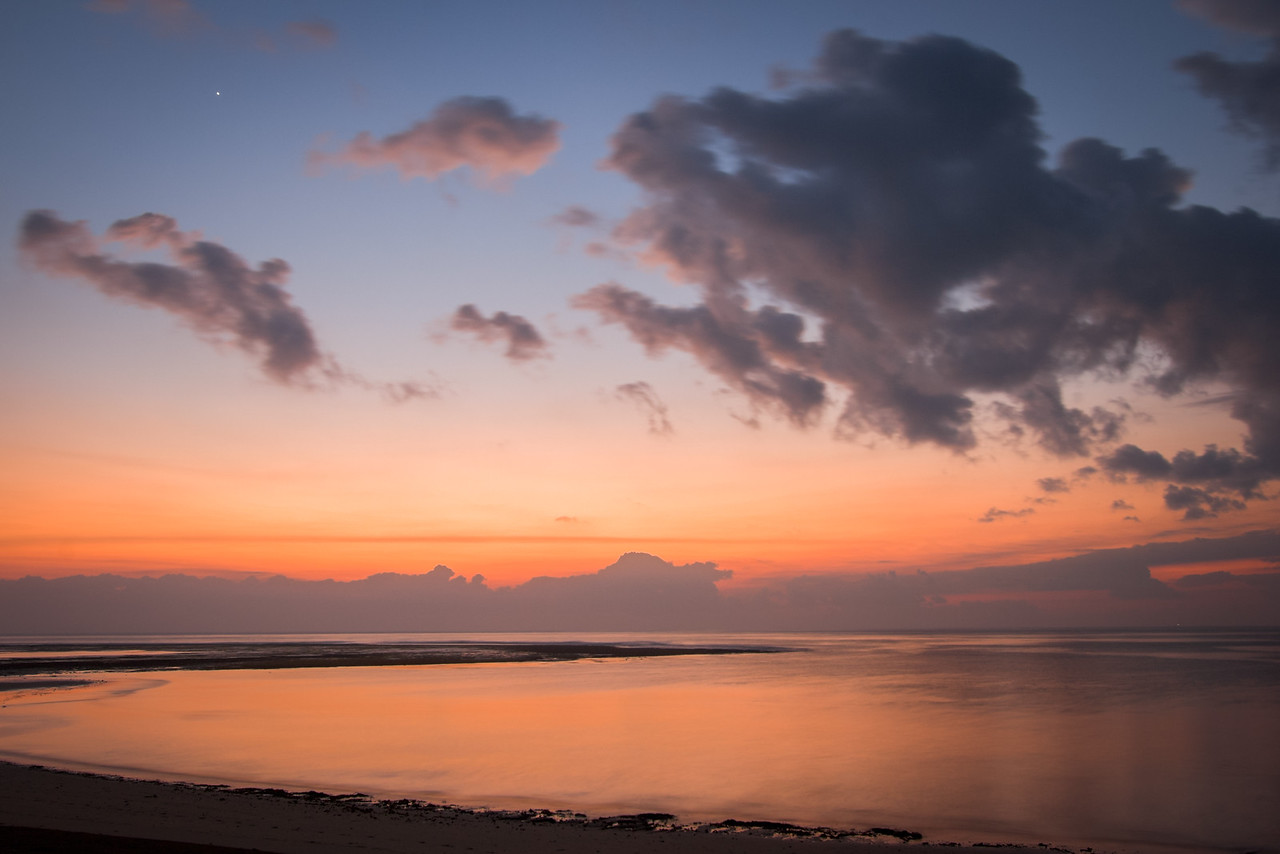 Calm ocean at sunrise