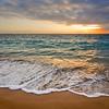 Calm ocean during tropical sunrise