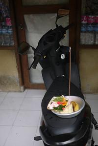 Balinese Offerings on a Motorbike