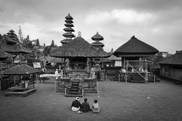 Inside Hindu temple Besakih