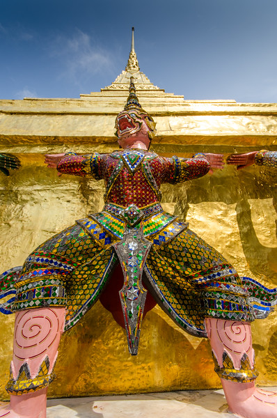 Garuda stands guard at the Grand Palace.