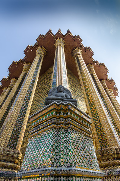 Detail with Buddha, Grand Palace.