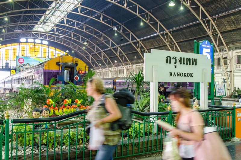 Exploring the Bangkok train station.