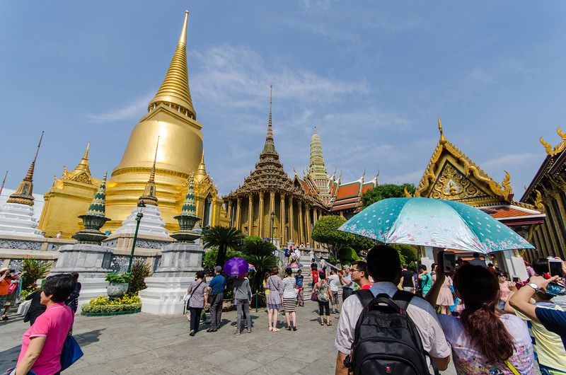 Inside the Grand Palace there are multiple temples.