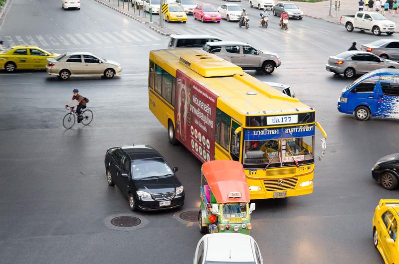 Bangkok traffic is crazy.