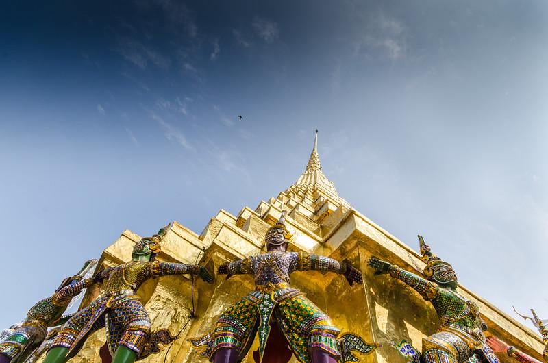 Garuda stands guard at the Grand Palace.