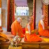 Monks at prayer, Doi Suthep.