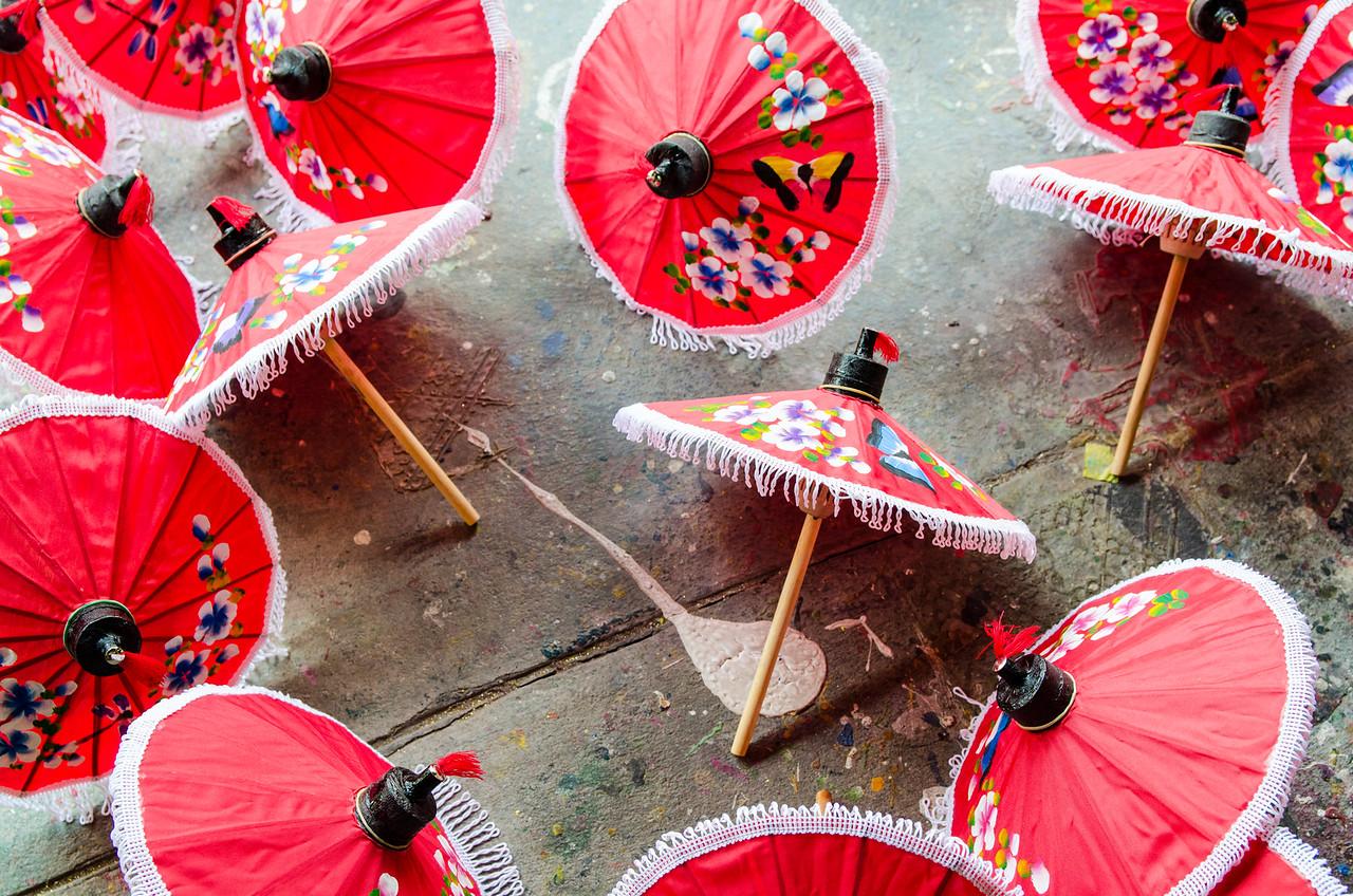 Miniature umbrellas.
