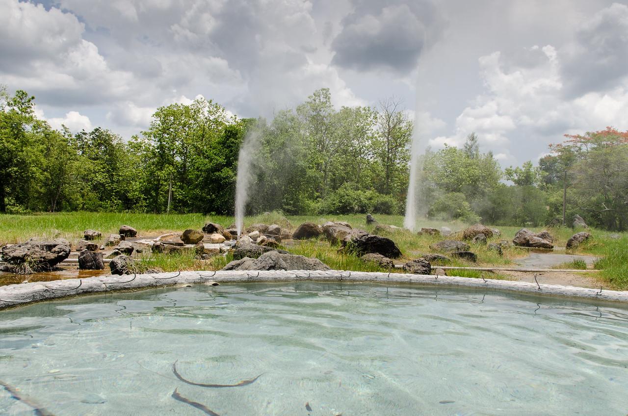 The Sankampaeng Hot Springs.