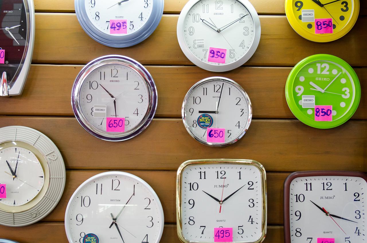 Clocks, Warorot Market.