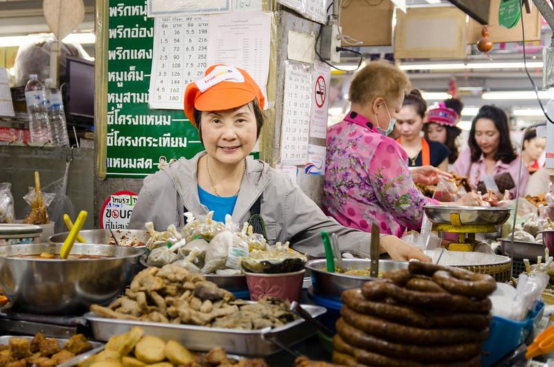 Sausage lady, Warorot Market.