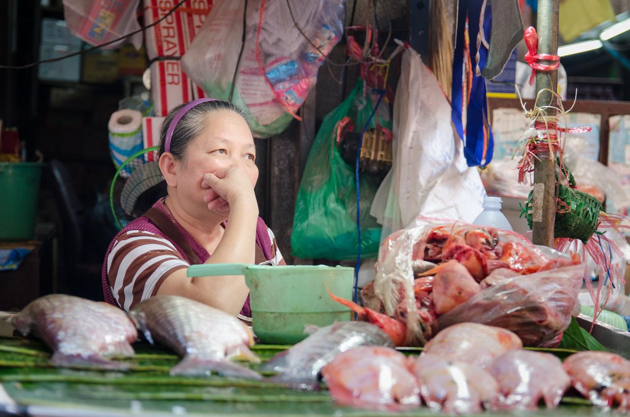 Slow fish day, Warorot Market.