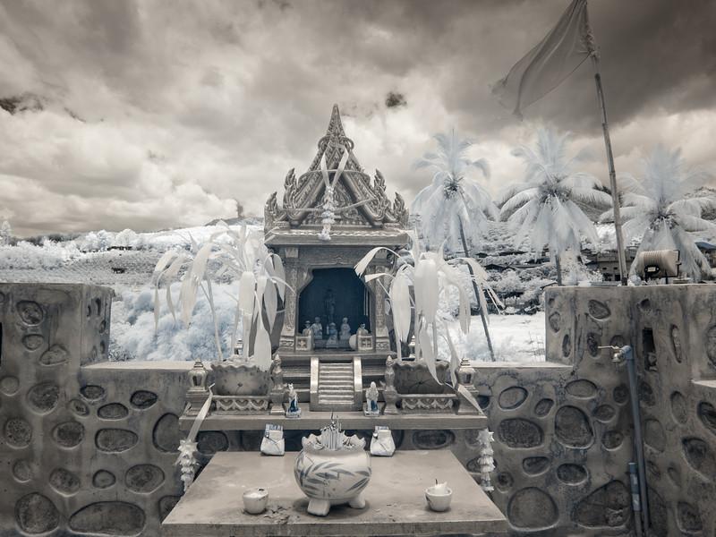 Small shrine in Santichon, infrared.