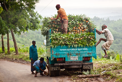 Pineapple truck, Bangladesh