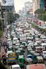 Traffic jam in Dhaka, Bangladesh