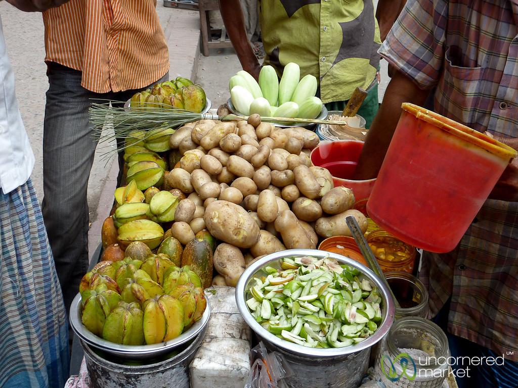 Star Fruit and Potatoes Food Stand - Khulna, Bangladesh