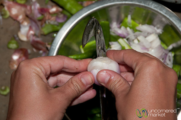 Onion Cut with Traditional Knife - Hatiandha, Bangladesh