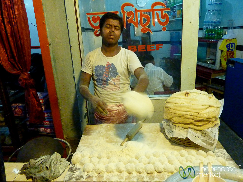 Rolling Out and Flipping Roti - Khulna, Bangladesh