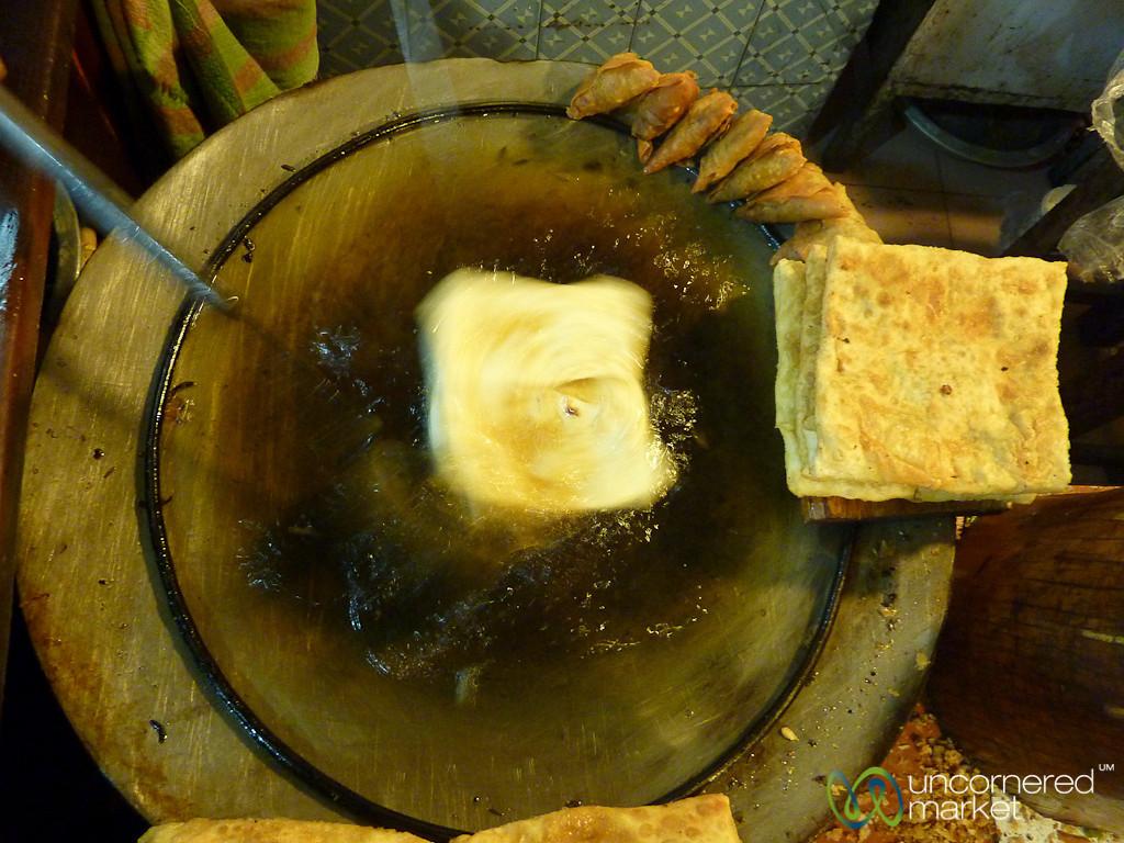 Fried Roti for Dinner - Khulna, Bangladesh
